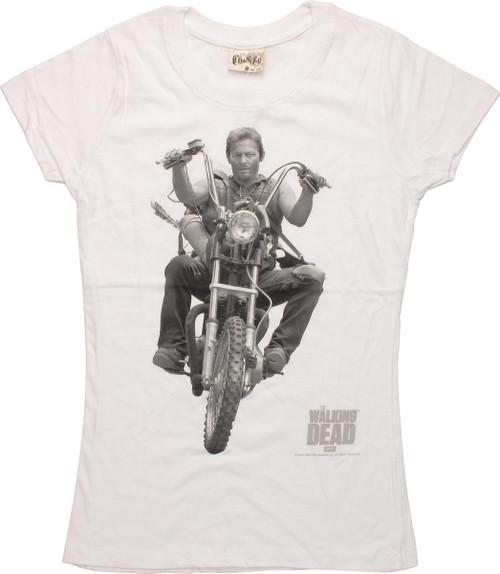 Walking Dead Daryl Dixon Motorcycle Juniors Tee