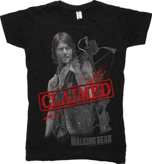 Walking Dead Daryl Dixon Claimed Juniors Tee