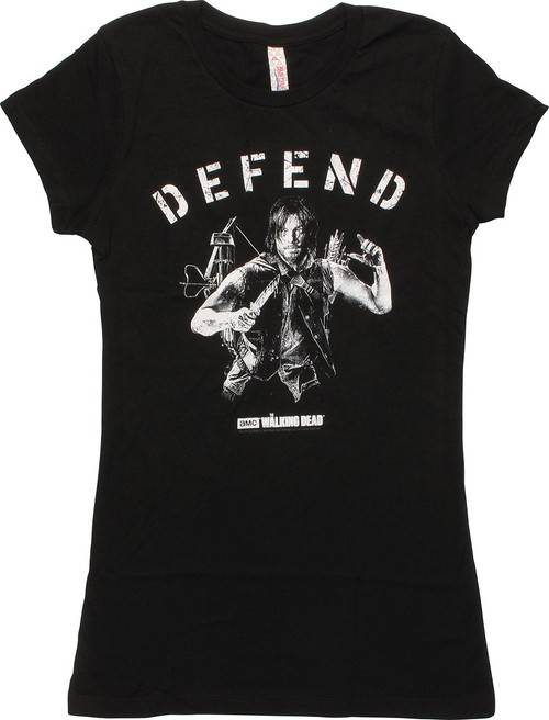 Walking Dead Daryl Defend Juniors T-Shirt