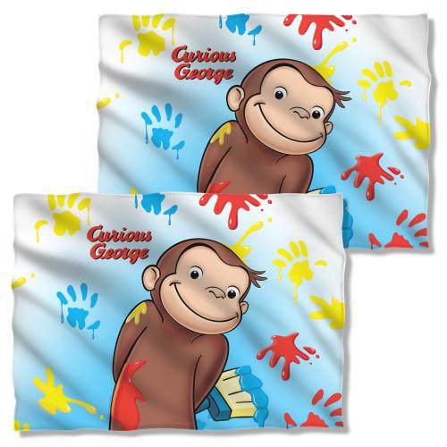 Curious George Paint FB Pillow Case