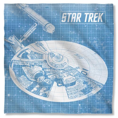 Star Trek Enterprise Blueprint Bandana