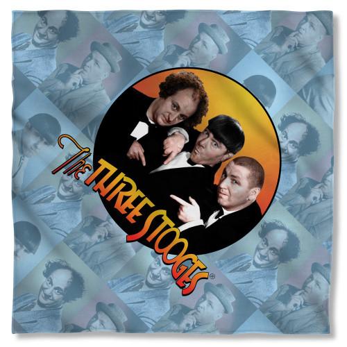 Three Stooges Portraits Bandana