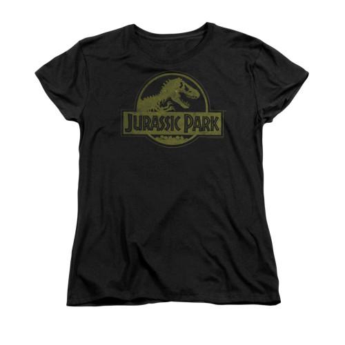 Jurassic Park Dist Logo Ladies T Shirt