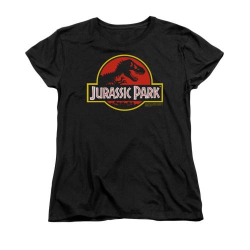 Jurassic Park Classic Logo Ladies T Shirt