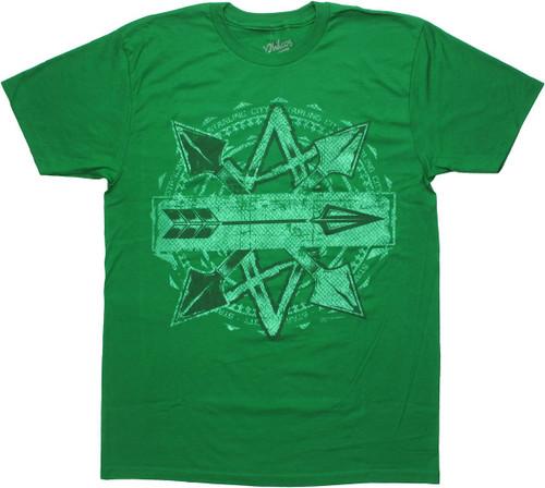 Green Arrow Crossed Arrows T-Shirt