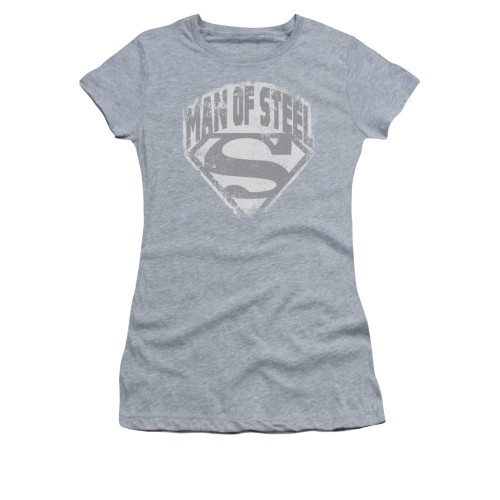 Superman Man of Steel Vintage Juniors T Shirt