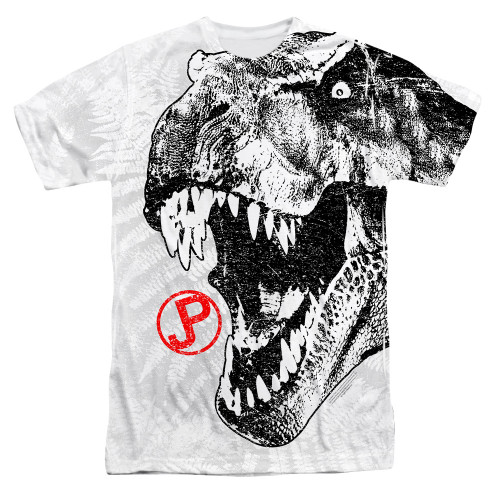 Jurassic Park T Rex Head Sublimated T Shirt