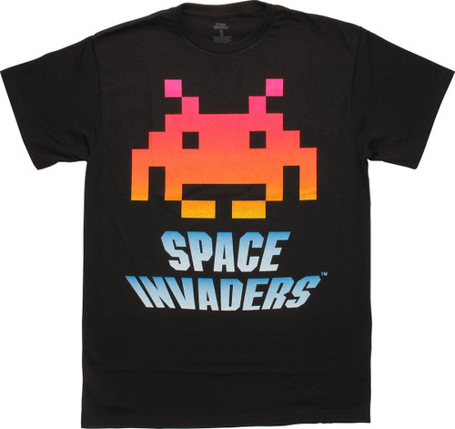 Atari Space Invaders Neon Alien T-Shirt