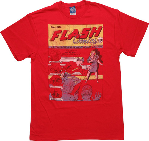 Flash Comics Vintage Cover T-Shirt