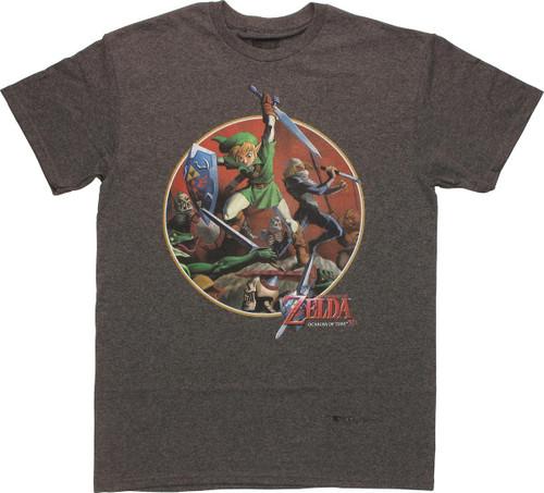 Zelda Ocarina of Time Link Battle T-Shirt