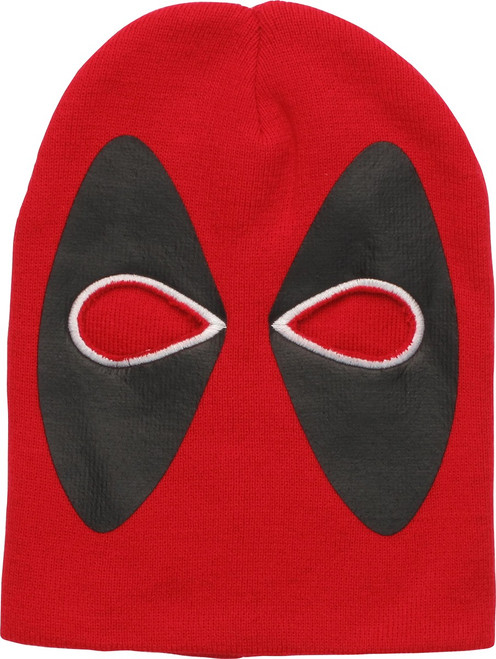 Deadpool Eyes Face Mask Beanie