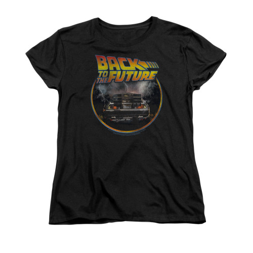 Back to the Future Back Ladies T Shirt