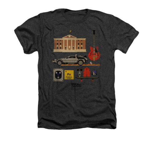 Back to the Future Items Heather T Shirt