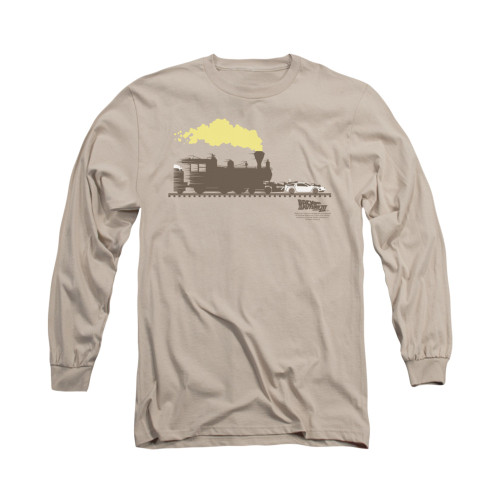 Back to the Future 3 Car Push Long Sleeve T Shirt