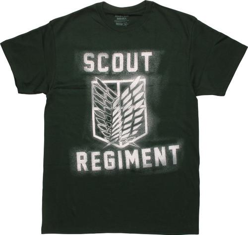 Attack on Titan Scout Logo Splatter T-Shirt