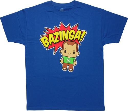 Big Bang Theory Bazinga Toy Sheldon T-Shirt