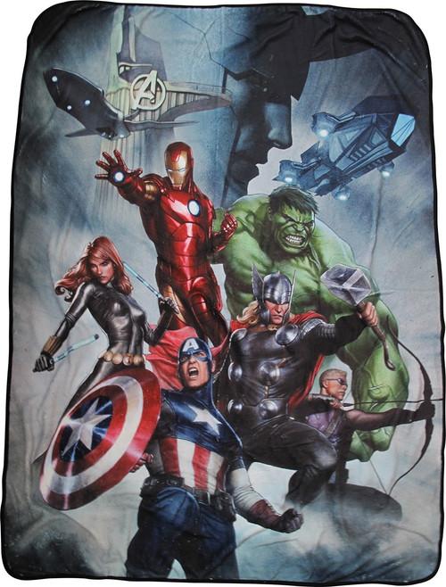974685fe8b3e55 Avengers Assemble Heroes and Loki Fleece Blanket