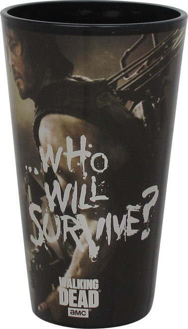 Walking Dead Who Will Survive Pint Glass