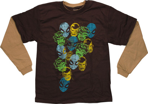 Avengers Head Stamp Youth T Shirt
