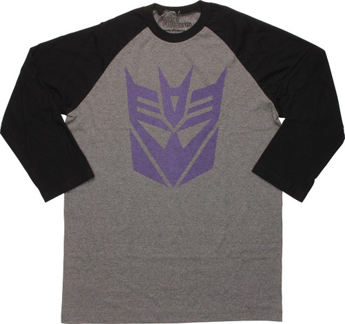 Transformers Decepticon Logo 3/4 Raglan T-Shirt