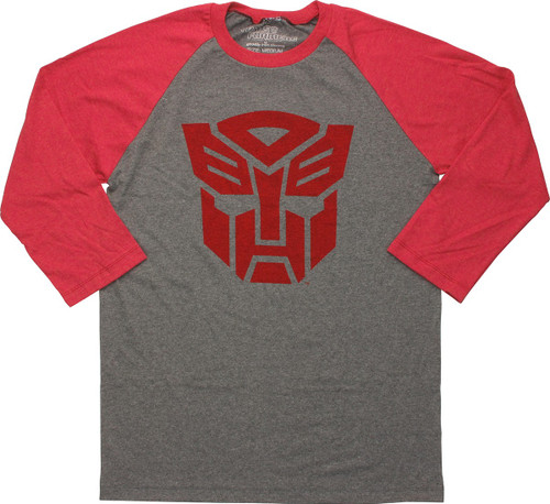 Transformers Autobot Logo 3/4 Raglan T-Shirt Sheer