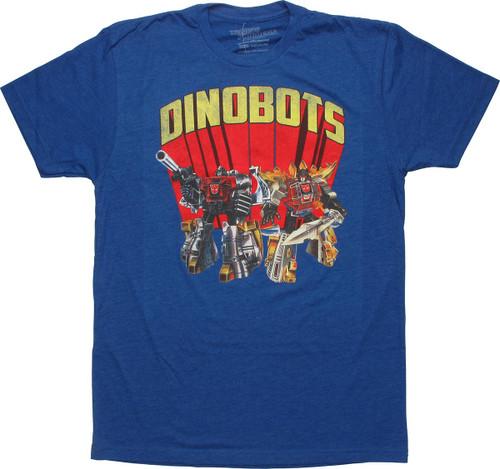 Transformers Dinobots Royal Blue T-Shirt Sheer