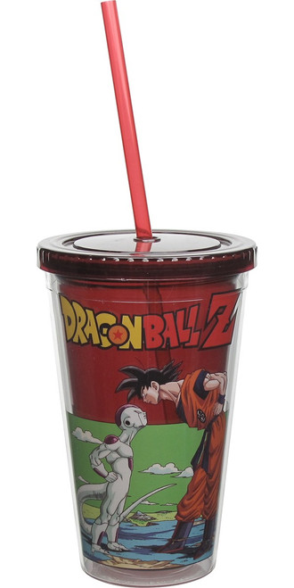 Dragon Ball Z Frieza Staring Down Goku Travel Cup