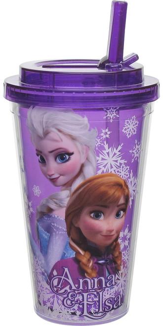 Frozen Anna and Elsa Flip Straw Travel Cup