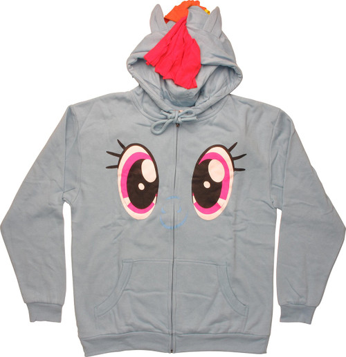 My Little Pony Rainbow Dash Face Costume Hoodie