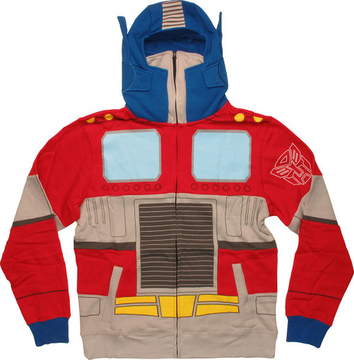 Transformers Cartoon Optimus Prime Costume Hoodie