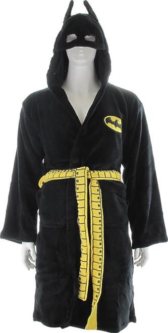 Batman Masked Hood Fleece Black Robe