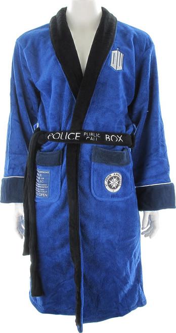 Doctor Who TARDIS Back Fleece Robe 19700cc38