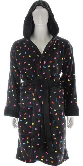 Tetris Pieces Hooded Fleece Robe