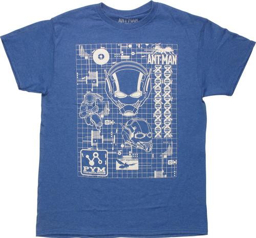 Ant Man Schematics T-Shirt
