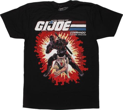 GI Joe Snake Eyes and Timber Card Back T-Shirt
