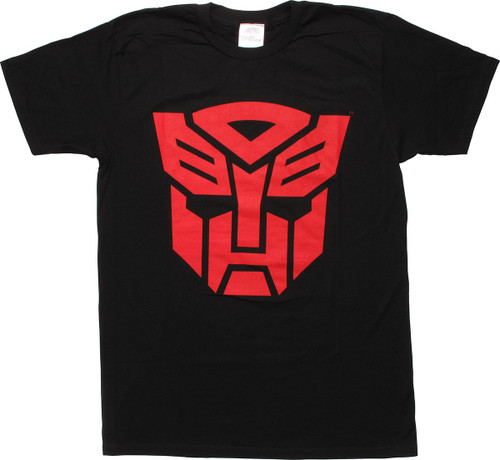 Transformers Red Autobot Logo Black T-Shirt