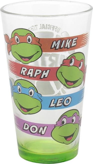 Ninja Turtles Heads Mutated in 1984 Pint Glass
