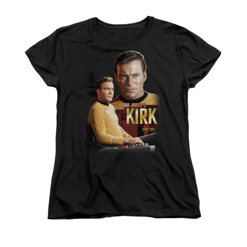 Star Trek Captain Kirk Ladies T Shirt