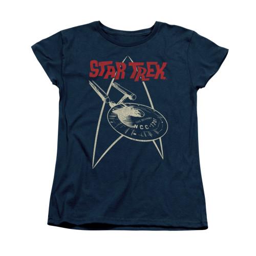 Star Trek Ship Symbol Ladies T Shirt