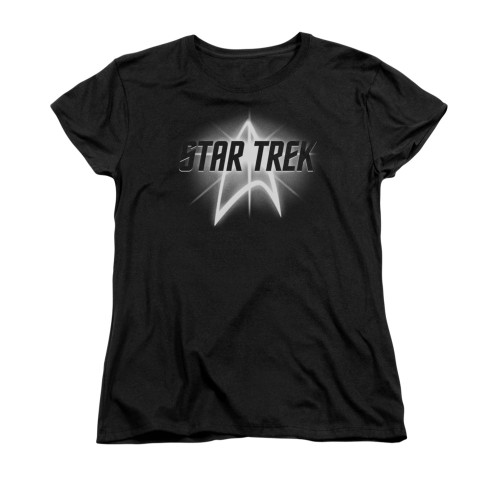 Star Trek Glow Logo Ladies T Shirt