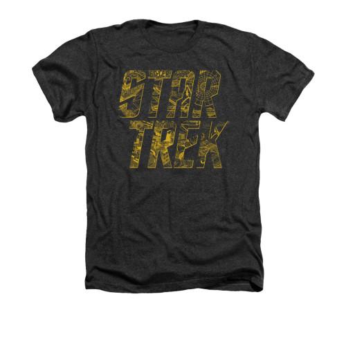 Star Trek Schematic Logo Heather T Shirt