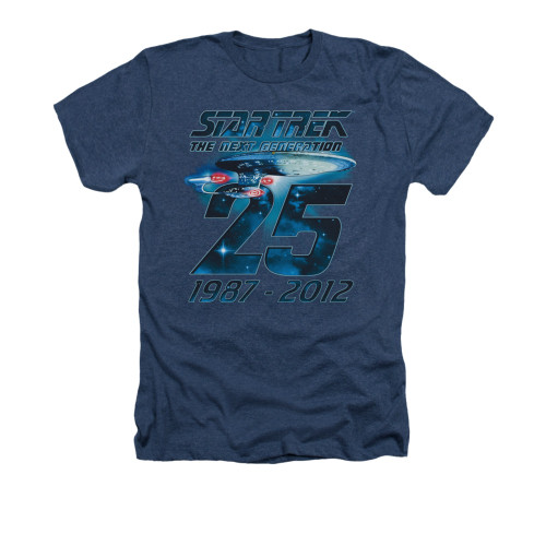 Star Trek TNG 25 Years Navy Heather T Shirt