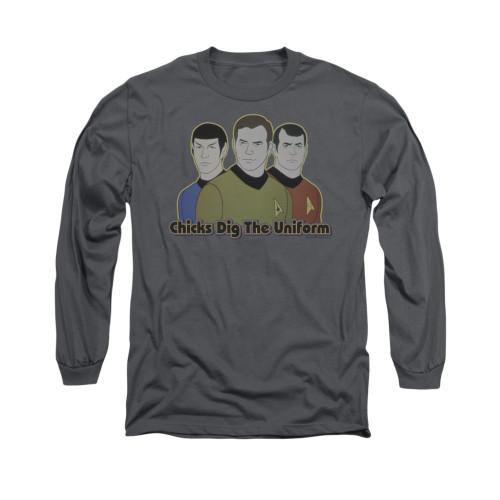 Star Trek Chicks Dig Uniform Long Sleeve T Shirt