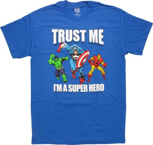 Avengers Trust Me Hero Blue T-Shirt