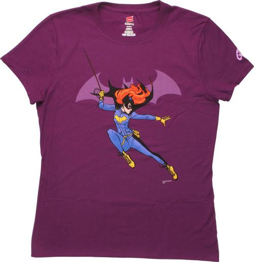 Batgirl Attitude Swing Ladies T-Shirt