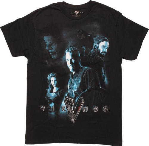 Vikings Warrior Montage T-Shirt