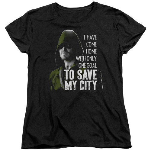 Green Arrow TV Save My City Ladies T Shirt