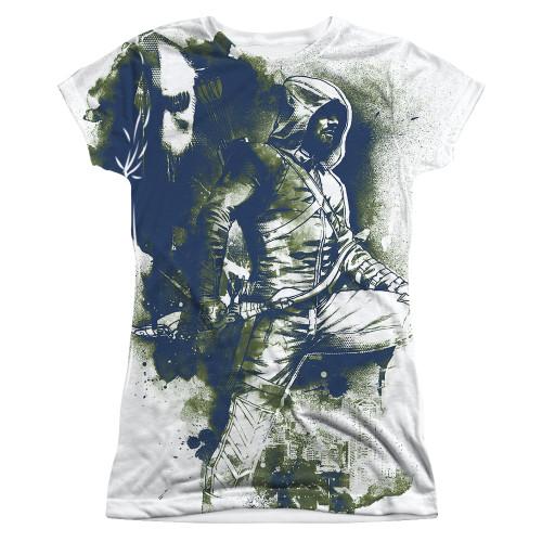 Green Arrow TV Spray Paint Sub Juniors T Shirt