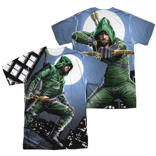 Green Arrow TV Night Watch FB Sublimated T Shirt