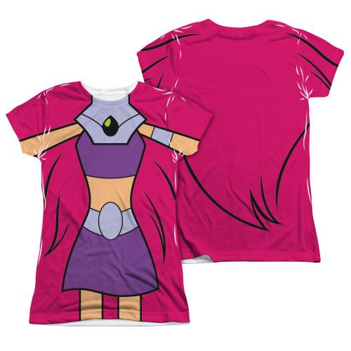 Teen Titans Go Starfire FB Sub Juniors T Shirt